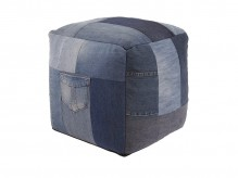 Ashley Aaden Blue Pouf Available Online in Dallas Fort Worth Texas