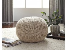 Ashley Benedict Natural Pouf Available Online in Dallas Fort Worth Texas