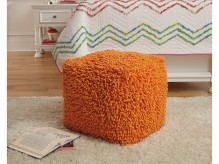 Ashley Taisce Orange Pouf Available Online in Dallas Fort Worth Texas