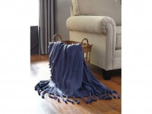 Ashley Clarence Navy Throw Available Online in Dallas Fort Worth Texas
