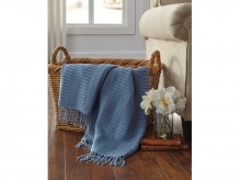 Ashley Mendez Blue Throw Available Online in Dallas Fort Worth Texas