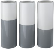 Ashley Dalal Gray & White Vase Set of 3 Available Online in Dallas Fort Worth Texas