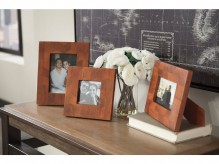 Ashley Kabecka Brown Photo Frame Set of 3 Available Online in Dallas Fort Worth Texas