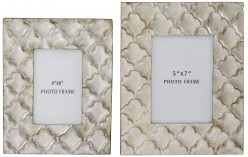 Ashley Kaeden Silver Leaf Photo Frame Set of 2 Available Online in Dallas Fort Worth Texas
