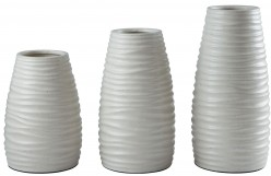 Ashley Kaemon White Vase Set of 3 Available Online in Dallas Fort Worth Texas