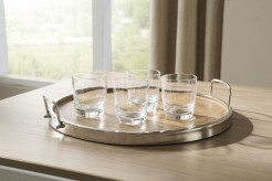 Ashley Octavian Natural and Silver Tray Set of 2 Available Online in Dallas Fort Worth Texas