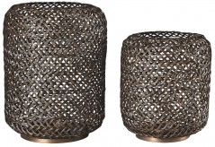 Ashley Odbart Antique Bronze Candle Holder Set of 2 Available Online in Dallas Fort Worth Texas