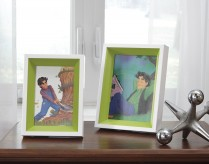 Ashley Obie White & Green Photo Frame Set of 2 Available Online in Dallas Fort Worth Texas