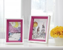 Ashley Obie White & Pink Photo Frame Set of 2 Available Online in Dallas Fort Worth Texas
