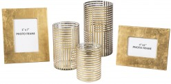 Desirius Clear & Gold Accessory Set of 5 Available Online in Dallas Fort Worth Texas