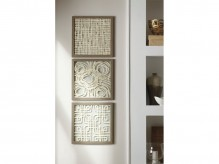 Odella Cream & Taupe Wall Decor Set of 3 Available Online in Dallas Fort Worth Texas