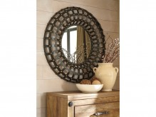 Ogier Brown & Gold Accent Mirror Available Online in Dallas Fort Worth Texas