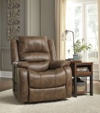 Ashley Yandel Saddle Power Lift Recliner Available Online in Dallas Fort Worth Texas