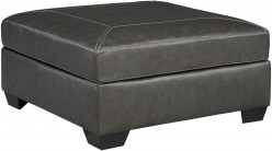 Ashley Norphlet Oversized Gunmetal Ottoman Available Online in Dallas Fort Worth Texas
