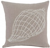 Anshel Natural Shell Design Pillow Cover Set of 4 Available Online in Dallas Fort Worth Texas