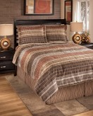 Ashley Wavelength Jewel Queen Comforter Set Available Online in Dallas Fort Worth Texas