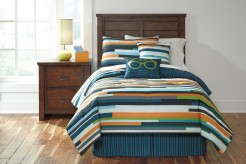 Ashley Seventy Stripe Twin Size Comforter Set Available Online in Dallas Fort Worth Texas