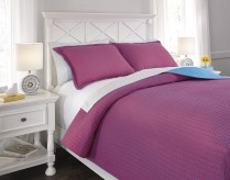 Ashley Dansby Magenta and Aqua Full Coverlet Set Available Online in Dallas Fort Worth Texas