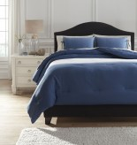 Ashley Aracely Blue King Comforter Set Available Online in Dallas Fort Worth Texas