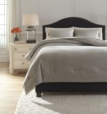 Ashley Aracely Taupe Queen Comforter Set Available Online in Dallas Fort Worth Texas