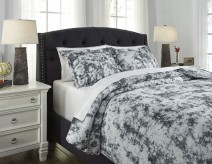 Ashley Darra Gray King Duvet Cover Set Available Online in Dallas Fort Worth Texas