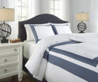 Ashley Daruka Blue King Duvet Cover Set Available Online in Dallas Fort Worth Texas