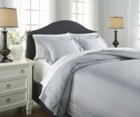 Ashley Chamness Gray King Duvet Cover Set Available Online in Dallas Fort Worth Texas