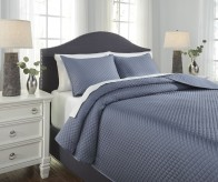 Ashley Dietrick Blue King Quilt... Available Online in Dallas Fort Worth Texas