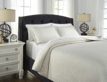 Ashley Barsheba Ivory King Duvet Cover Set Available Online in Dallas Fort Worth Texas