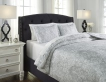 Ashley Daniyah Gray King Duvet Cover Set Available Online in Dallas Fort Worth Texas