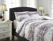 Ashley Danessa Mulberry King Duvet Cover Set Available Online in Dallas Fort Worth Texas