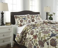 Ashley Dameka Floral Queen Duvet Cover Set Available Online in Dallas Fort Worth Texas
