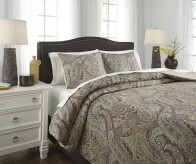Ashley Damonica Multi King Duvet Cover Set Available Online in Dallas Fort Worth Texas