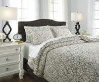 Ashley Danila Brown and Cream King Duvet Cover Set Available Online in Dallas Fort Worth Texas