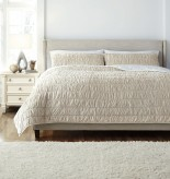 Ashley Stitched Beige Queen Quilt Set Available Online in Dallas Fort Worth Texas