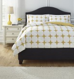 Ashley Cyrun Yellow King Duvet Cover Set Available Online in Dallas Fort Worth Texas