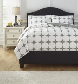 Ashley Cyrun Gray Queen Duvet Cover Set Available Online in Dallas Fort Worth Texas