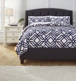 Ashley Imelda Navy Queen Comforter Set Available Online in Dallas Fort Worth Texas