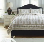 Ashley Almeda Beige Queen Coverlet Set Available Online in Dallas Fort Worth Texas