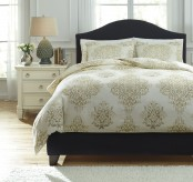Ashley Fairholm Natural Queen Duvet Cover Set Available Online in Dallas Fort Worth Texas