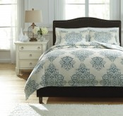 Ashley Fairholm Turquoise Queen Duvet Cover Set Available Online in Dallas Fort Worth Texas