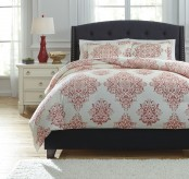 Ashley Fairholm Red King Duvet Cover Set Available Online in Dallas Fort Worth Texas