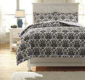 Ashley Alano Black Twin Duvet Cover Set Available Online in Dallas Fort Worth Texas