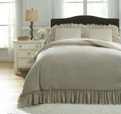 Ashley Clarksdale Natural Queen Duvet Cover Set Available Online in Dallas Fort Worth Texas