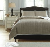 Ashley Orson Natural Queen Coverlet Set Available Online in Dallas Fort Worth Texas