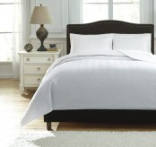 Ashley Aldis White Queen Coverlet Set Available Online in Dallas Fort Worth Texas