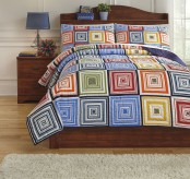 Ashley Tazzoni Multi Twin Coverlet Set Available Online in Dallas Fort Worth Texas