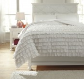 Ashley Aaronas White Twin Duvet Cover Set Available Online in Dallas Fort Worth Texas