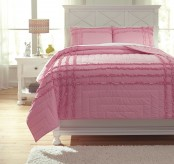 Ashley Megara Pink Twin Quilt Set Available Online in Dallas Fort Worth Texas