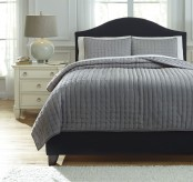 Ashley Teague Gray King Comforter Set Available Online in Dallas Fort Worth Texas